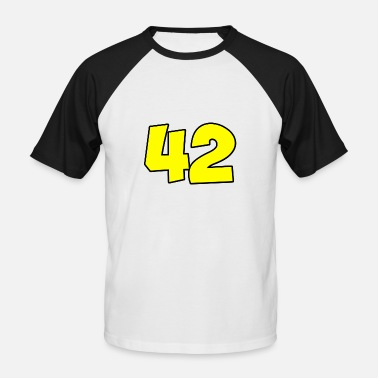 Douglas Adams 42 - Men's Baseball T-Shirt
