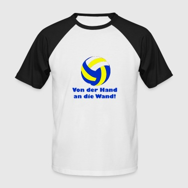 Dpep De la main au volleyball mural - T-shirt baseball manches courtes Homme