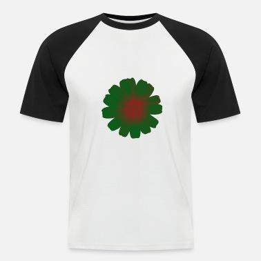 Gallega Flor gallega blanca 3 - Camiseta de béisbol hombre 76403a89728