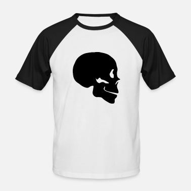 Profile Graphics Skull silhouette profile - Men's Baseball T-Shirt