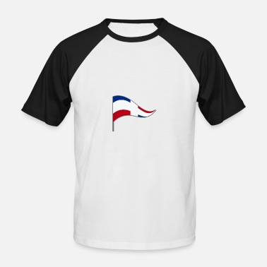 Santo Domingo Dom Rep Dominican Santo Domingo flag flag - Men's Baseball T-Shirt