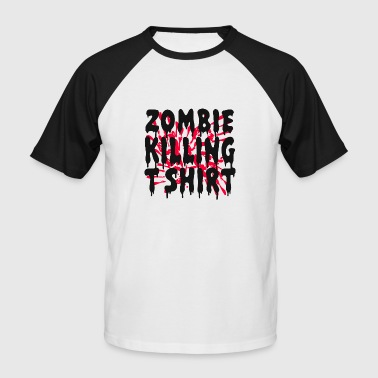 ZOMBIE HALLOWEEN PARTY EVENT SHIRT GESCHENK UNTOTE - Männer Baseball-T-Shirt