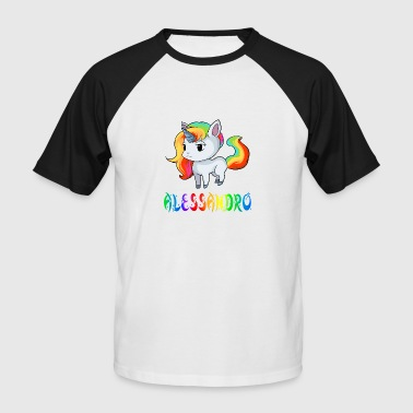 Alessandro Alessandro unicorn - Men's Baseball T-Shirt
