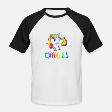 Darwin Unicorn Unicorn Charles - Men's Baseball T-Shirt
