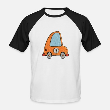 Number 3 Enillo racecar Yellow number 3 - Men's Baseball T-Shirt