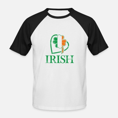 Irish Colors I love Ireland and Irish signs and colors - Men's Baseball T-Shirt