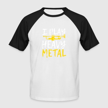 Spreadmusic2015 JE JOUE HEAVY METAL - T-shirt baseball manches courtes Homme
