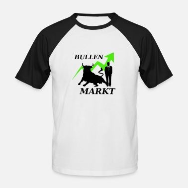 Marketer Stock market market - Men's Baseball T-Shirt