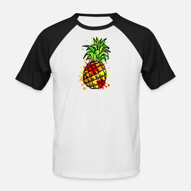 Pineapple Draw pineapple - Men's Baseball T-Shirt