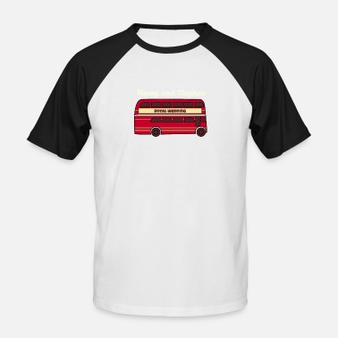 Double Decker Bus Royal Wedding 2018 red double decker bus - Men's Baseball T-Shirt