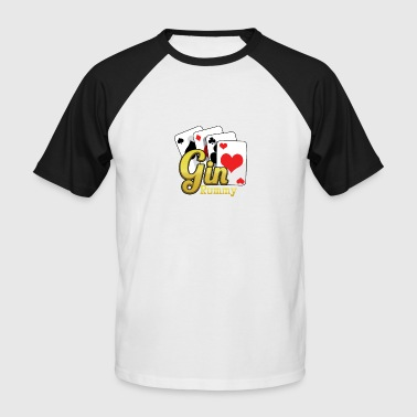 Gin Rummy Gin Rummy Card Deck - Men's Baseball T-Shirt
