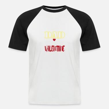 70cfc55344b22 PAPA EST MON père père VALENTINE cadeau papa fille - T-shirt baseball Homme