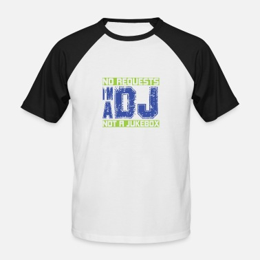De Dj Is Geen Jukebox Dj Jukebox - Mannen baseballshirt korte mouw