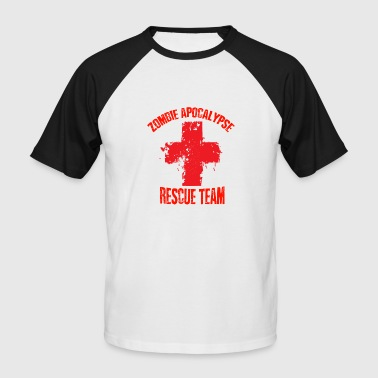 Team Zombie Zombie apocalypse rescue team - Men's Baseball T-Shirt