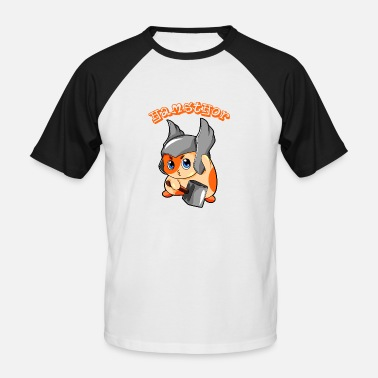 Hamster Hamsthor hamster thor nordic dieu dessin animé mignon - T-shirt baseball manches courtes Homme