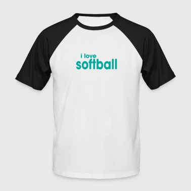 I love softball - Men's Baseball T-Shirt