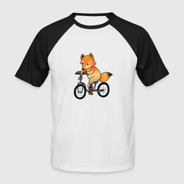 Fox Bike Fox bike gift, forest animal cute funny - Men's Baseball T-Shirt