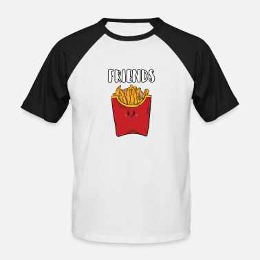 Cadeau Best Friend Cadeau de frites Best Friends Friends - T-shirt baseball manches courtes Homme