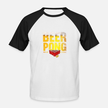 Table Tennis Beer Pong beerpong team beer table tennis ball gift - Men's Baseball T-Shirt