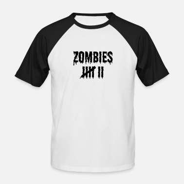 Countrymusic Zombie Kill Count Scary Halloween Designs 2 Dark - Men's Baseball T-Shirt