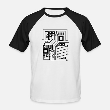 Circuit Board / board pattern / circuit - Men's Baseball T-Shirt