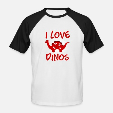 I Love Dinos I LOVE DINOS v1 - Men's Baseball T-Shirt