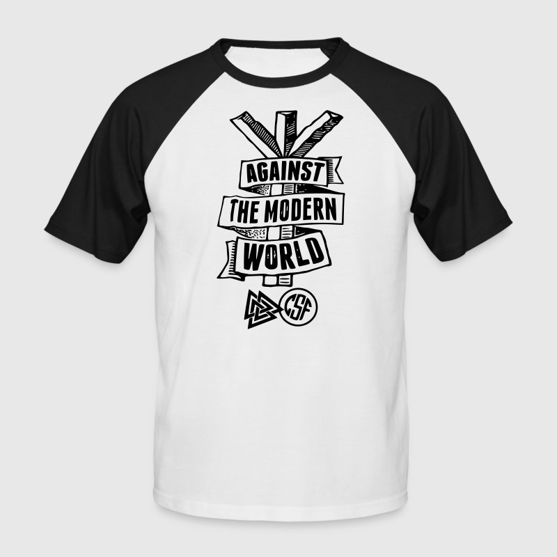 Against The Modern World - Männer Baseball-T-Shirt
