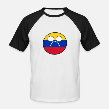 Countryballs Countryball Land Heimat Venezuela - Männer Baseball T-Shirt