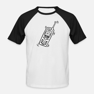 Mobile Cell Phone Phone Graphic Phone Cell Pocket - Men's Baseball T-Shirt