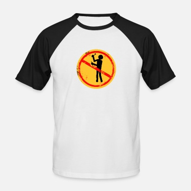 Chisel Man with hammer and chisel. - Men's Baseball T-Shirt