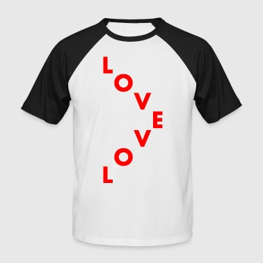 Love staggered - Men's Baseball T-Shirt
