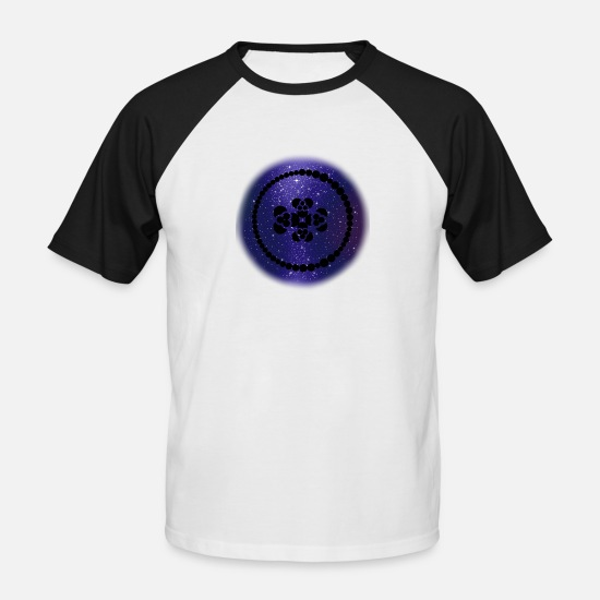 Sacred Geometry T-Shirts - Smell like teen spirit Space 2 - Men's Baseball T-Shirt white/black