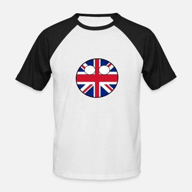 Countryballs Countryball Land Heimat England - Männer Baseball T-Shirt