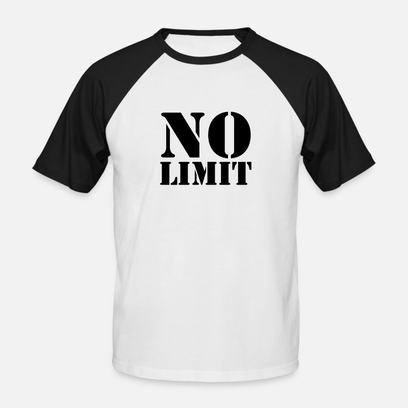 Edition T-Shirts - No Limit - Men's Baseball T-Shirt white/black