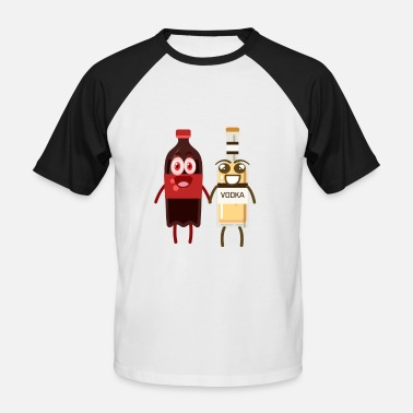 Cola Funny Equipo Cola Vodka Cocktail Funny Couple - Camiseta béisbol manga corta hombre