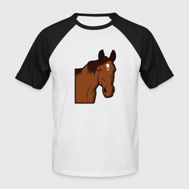 Cheval Cheval Cheval Chevaux Cheval Sauvage Poney - T-shirt baseball manches courtes Homme