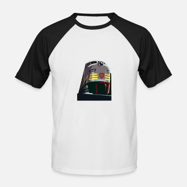 Rocky Mountains Zug aus den Rocky Mountains - Männer Baseball-T-Shirt