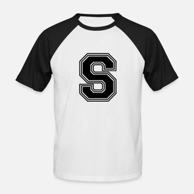 Lettres S_letre_S_(w31) - T-shirt baseball manches courtes Homme