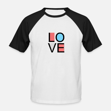 Loved love - Men's Baseball T-Shirt