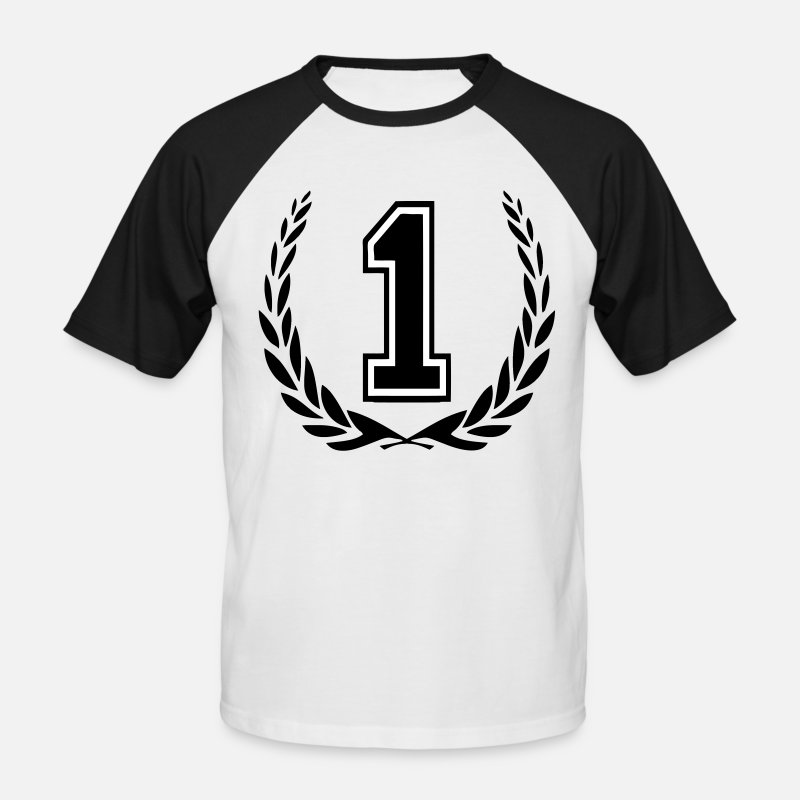 Couronne T-shirts - number one - T-shirt baseball Homme blanc/noir