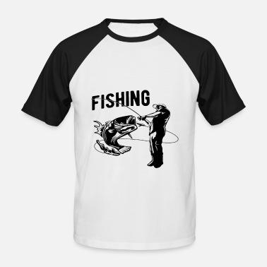 Fishing Fishermen Anglers, fishermen, fish, anglers - Men's Baseball T-Shirt
