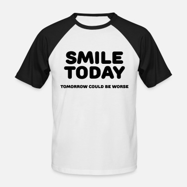 Today Smile today - Maglia da baseball a manica corta da uomo