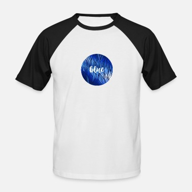 Reflektion Blue Circle - Wasser Reflektion - Männer Baseball T-Shirt