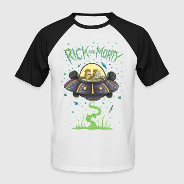 The Smiths Rick And Morty Spaceship Illustration - Mannen baseballshirt korte mouw
