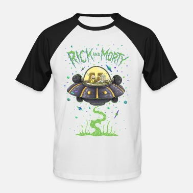 The Smiths Rick And Morty Spaceship Illustration - Kortærmet herre-baseballshirt