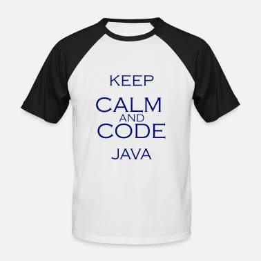 Java Code Code Java - Men's Baseball T-Shirt