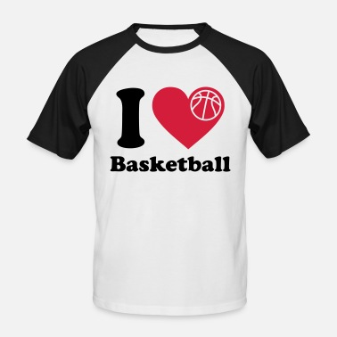 Basket I Love Basketball I love Baketball   Basket   - Men's Baseball T-Shirt