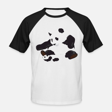 Cub Panda and cub - Men's Baseball T-Shirt
