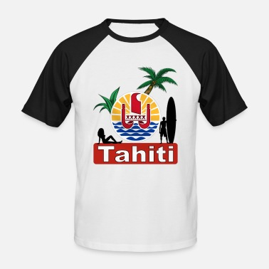 Surfer tahiti - T-shirt baseball manches courtes Homme