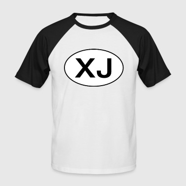 Jeep XJ Oval - Autonaut.com - Men's Baseball T-Shirt